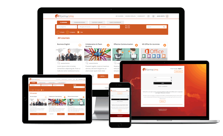 forma lms responsive