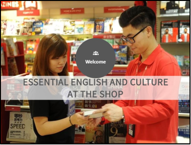 Essential English and Culture at the shop